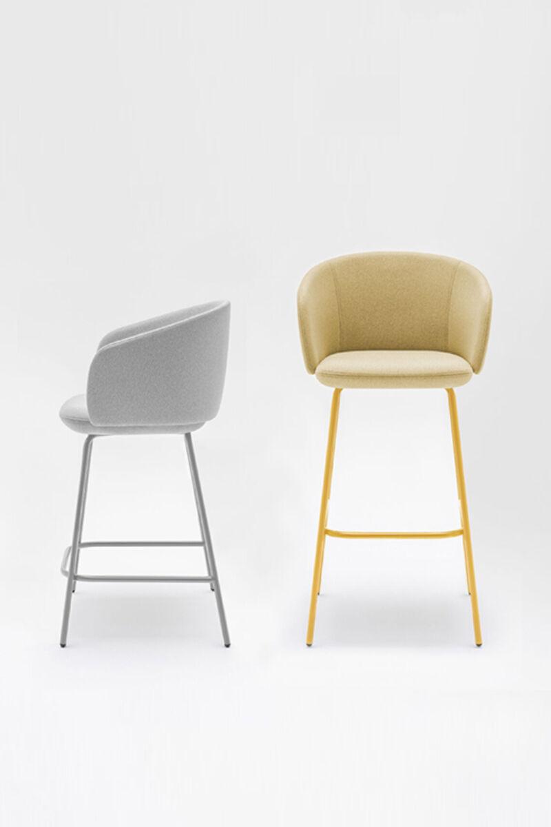 High stool Grace Fabric:  Mica Color: MC14 , MC12 Base color:  M010, M029